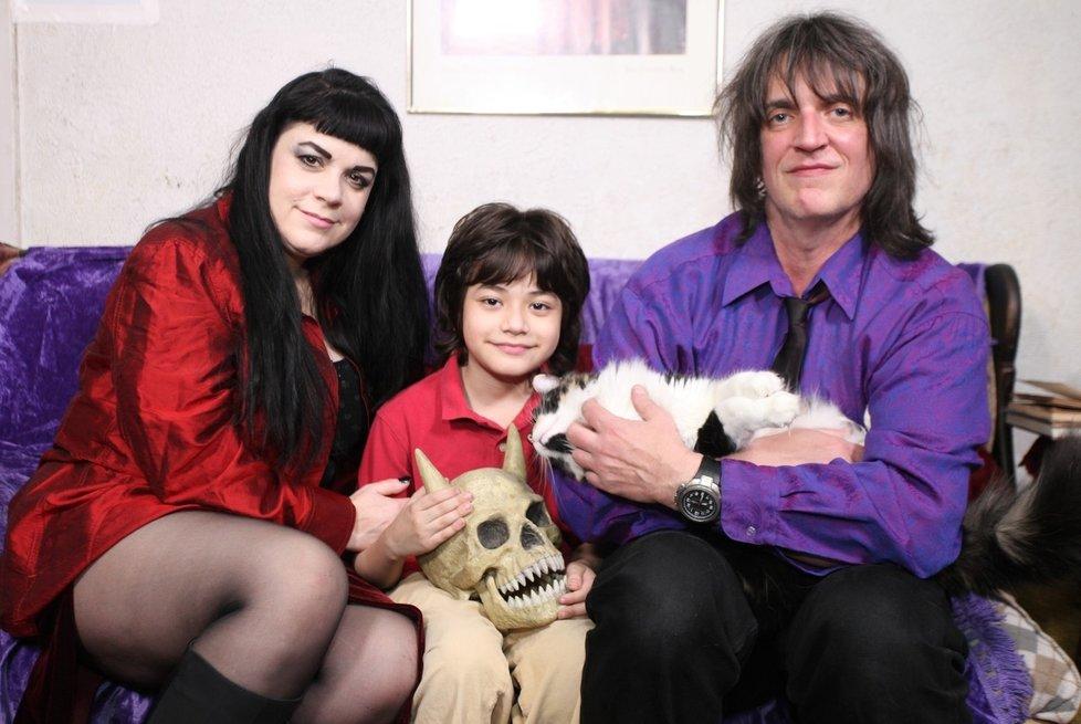 Юлия и ее сын Алексей Лазарович и бывший муж Дональд Лазарович